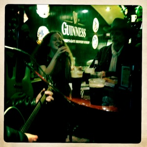 Sharon Kaye, Gerald Donnelly and Jay Spero at Percy's Tavern, NYC - St. Patrick's Day 2012